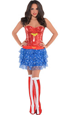 Adult Wonder Woman Costume Deluxe