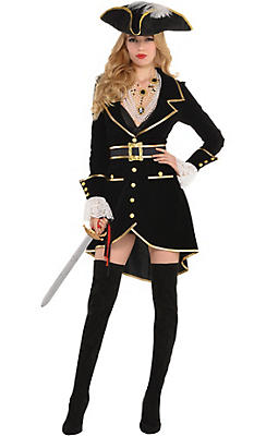 quick shop adult treasure vixen pirate costume - Halloween Pirate Costume Ideas
