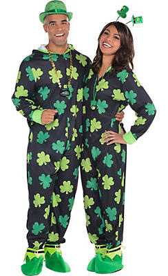 Adult Zipster St. Patrick's Day Couples Costume