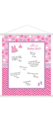 Girl Baby Shower Sign-In Sheet - Shower With Love