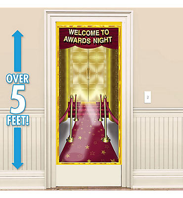 Red Carpet Awards Night Door Decoration