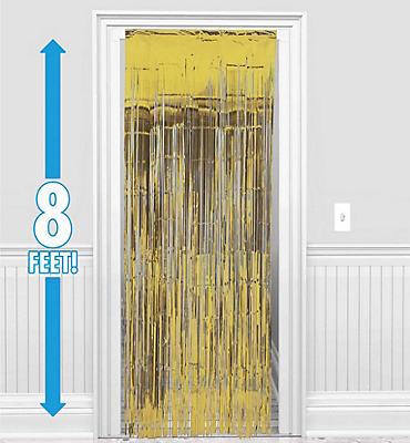 Gold Foil Doorway Curtain 8ft