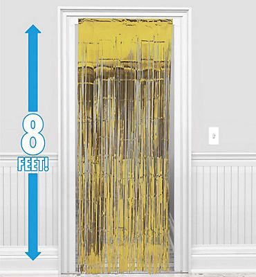 Gold Doorway Curtain