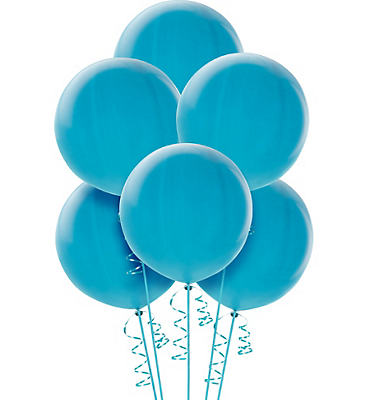 Premium Light Blue Balloons 6ct