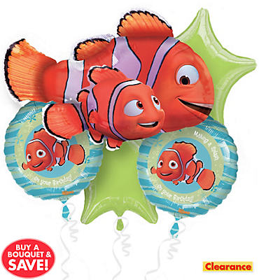 Finding Nemo Balloon Bouquet 5pc