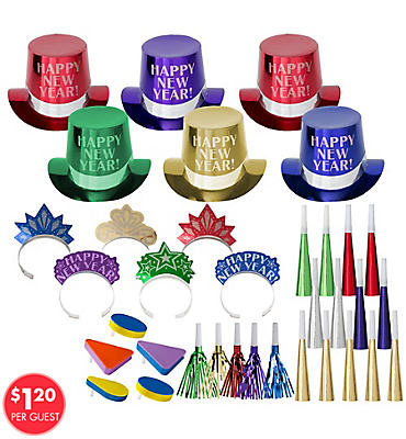 Jewel Tone Get The Party Started New Years <span class=messagesale><br><b>Party Kit For 25</b></br></span>