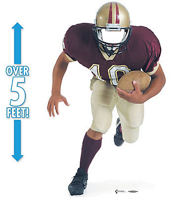 Football Player Life Size Photo Cardboard Cutout 65in