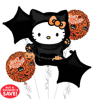 Hello Kitty Halloween Balloon Bouquet 5pc