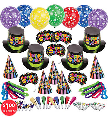 Multi Bright Star New Years Party Kit For 100