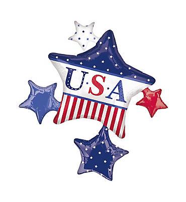 Patriotic Balloon - Cluster American Classic
