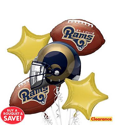 St. Louis Rams Balloon Bouquet 5pc