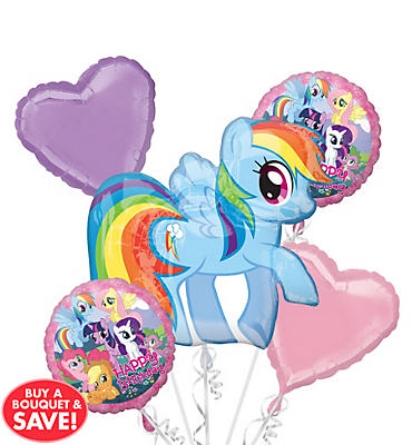 My Little Pony Balloon Bouquet 5ct
