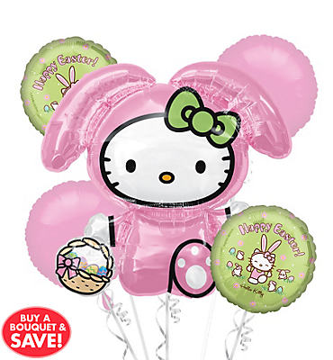 Hello Kitty Bunny Balloon Bouquet 5pc