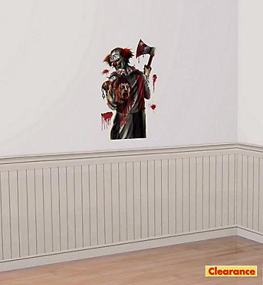 Killer Clown Wall Decals 5ct - Creepy Carnival
