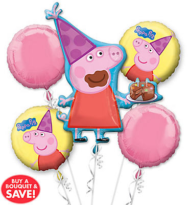 Peppa Pig Balloon Bouquet 5pc