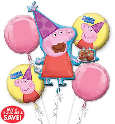 Peppa Pig Balloon Bouquet 5pc