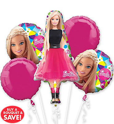 Barbie Balloon Bouquet 5pc - Giant