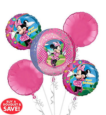 Minnie Mouse Balloon Bouquet 5pc - Orbz