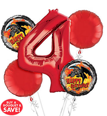 How To Train Your Dragon 4th Birthday Balloon Bouquet 5pc