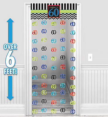 Celebrate 60th Birthday Door Curtain