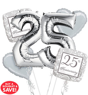 25th Anniversary Balloon Bouquet No 25