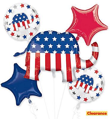 Republican Balloon Bouquet 5pc - Giant Elephant