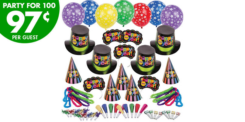 Kit For 100 - Bright Star New Years Party Kit