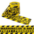 Party Scene 60th Birthday Warning Tape