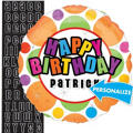 Birthday Dots Personalized Balloon 18in