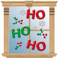 Ho Ho Ho Christmas Gel Clings 23ct