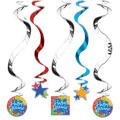 Happy Retirement Swirl Decorations 5ct