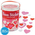 Valentines Day Hearts Foam Sticker Kit 285pc