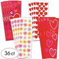 Valentines Day Stickers 36 Sheets