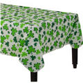 Shamrocks Vinyl Flannel-Backed Table Cover 52in x 90in