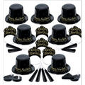 Black and Gold Champagne New Years <span class=messagesale><br><b>Party Kit For 50</b></br></span>