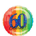 A Year to Celebrate 60th Birthday Foil Balloon 18in