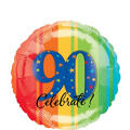 A Year to Celebrate 90th Birthday Foil Balloon 18in