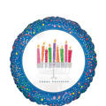 Foil Menorah Hanukkah Balloon 18in