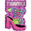 Glitzy Girl Thank You Notes 8ct