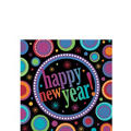 Modern New Years Beverage Napkins 16ct