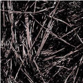 Black Metallic Tinsel Grass 2oz