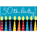 Great 50th Birthday Invitations 8ct