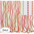 Fiesta Metallic Bead Necklaces 24ct