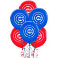 Chicago Cubs Latex Balloons 12in 6ct