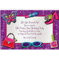 Glitzy Girl Custom Invitation