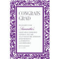 New Purple Ornamental Scroll Custom Invitation