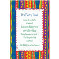 Fiesta Stripes Custom Invitation