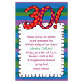Big 30 Border Custom Invitation
