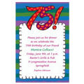 Big 75 Border Custom Invitation
