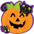Halloween Pumpkin Cutout 13in